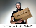lonely single man | Shutterstock . vector #361604693