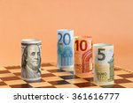Euro Vs Us Dollar On A Chess...