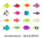 Cute Fish Underwater Vector...