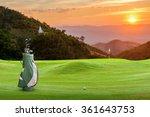 golf equipment on green and... | Shutterstock . vector #361643753