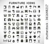furniture icons  furniture... | Shutterstock .eps vector #361648217