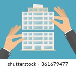 hands building company or... | Shutterstock .eps vector #361679477
