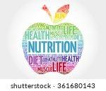 nutrition apple word cloud ... | Shutterstock .eps vector #361680143