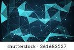 futuristic techno shape.... | Shutterstock . vector #361683527