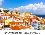 lisbon  portugal town skyline... | Shutterstock . vector #361699673