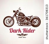 motorcycle grunge vector... | Shutterstock .eps vector #361708313