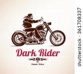 biker  motorcycle grunge vector ... | Shutterstock .eps vector #361708337