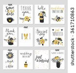 collection of 12 cute card... | Shutterstock .eps vector #361710863