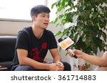 china's sprinter su bingtian... | Shutterstock . vector #361714883