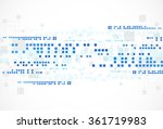 abstract technological... | Shutterstock .eps vector #361719983