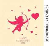 valentine's greeting card.... | Shutterstock .eps vector #361725743
