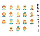 faces of people of different... | Shutterstock .eps vector #361751777