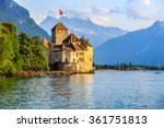 Sunset Of Chillon Castle At...