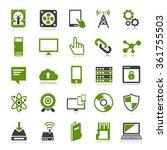 technology icons set computer ... | Shutterstock . vector #361755503