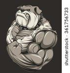 angry dog bodybuilder | Shutterstock .eps vector #361756733