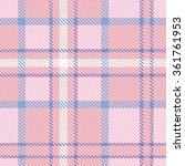 Plaid Checkered Tartan Seamles...