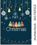 christmas poster | Shutterstock .eps vector #361765313