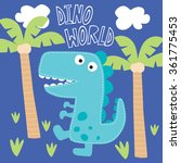 dino world vector illustration | Shutterstock .eps vector #361775453