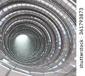 tunnel cave modern 3d render | Shutterstock . vector #361793873