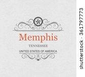 memphis tennessee.vintage frame.   Shutterstock .eps vector #361797773