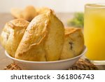 esfiha meat on the table with... | Shutterstock . vector #361806743