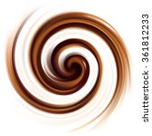 mixed dark sepia curvy eddy... | Shutterstock .eps vector #361812233
