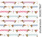 seamless pattern with cute... | Shutterstock . vector #361817867