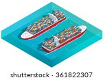 container ships... | Shutterstock .eps vector #361822307