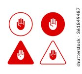 set of stop hand icons... | Shutterstock .eps vector #361849487