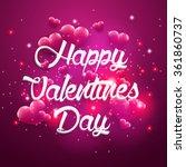 pink background valentines day... | Shutterstock .eps vector #361860737