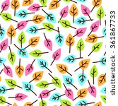 seamless vector pattern with... | Shutterstock .eps vector #361867733