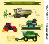 vector set of agricultural... | Shutterstock .eps vector #361870907