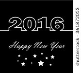 happy new 2016 year vector | Shutterstock .eps vector #361872053