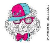 hipster. poster . print .... | Shutterstock .eps vector #361882217