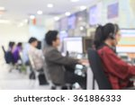 Blurred Call Center Of Network...