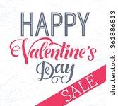 valentine's day sale vector... | Shutterstock .eps vector #361886813