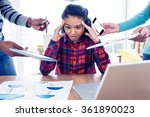 stressful businesswoman looking ... | Shutterstock . vector #361890023