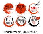 singles day sale badges.... | Shutterstock .eps vector #361898177