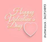 valentines day vintage... | Shutterstock .eps vector #361914893