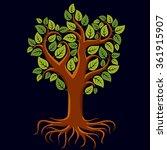 vector art illustration of... | Shutterstock .eps vector #361915907