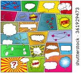 Abstract set of comic template | Shutterstock vector #361929473