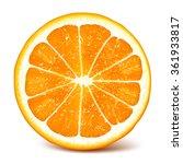 cut fresh ripe orange. fully... | Shutterstock .eps vector #361933817