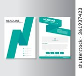 green polygon annual report... | Shutterstock .eps vector #361937423