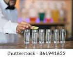 barman at work  preparing... | Shutterstock . vector #361941623