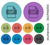 color gif file format flat icon ...