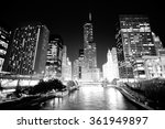 chicago downtown at night | Shutterstock . vector #361949897