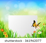background green grass with... | Shutterstock .eps vector #361962077