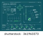 hud ui for medical app.... | Shutterstock .eps vector #361963373