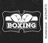 vintage logo for a boxing on... | Shutterstock .eps vector #361963973