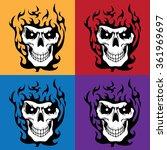 skull on 4 squares | Shutterstock .eps vector #361969697